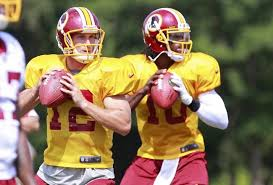 Kirk Cousins and Robert Griffin III drafted 100 picks apart by the `Skins in 2012