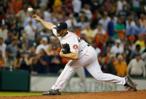 HOUSTON, TX - JUNE 03: Lance McCullers #43 of the Houston Astros throws a pitch in the ninth inning during their game against the Baltimore Orioles at Minute Maid Park on June 3, 2015 in Houston, Texas. (Photo by Scott Halleran/Getty Images)