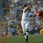 Photo of Garo Yepremian attempting a forward pass which actually goes backward during their Super Bowl VII win over the Washington Redskins. 1/14/73. Credit: Neil Leifer SetNumber: X17399